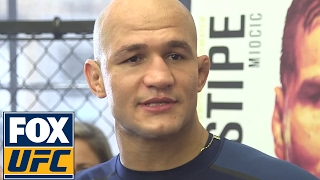 Download Junior Dos Santos gives wide-ranging interview at UFC 211 Workout Day | UFC 211 Video