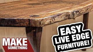 Download Live Edge Slab Furniture. The Happy Accident That Didn't Go as Planned! Video
