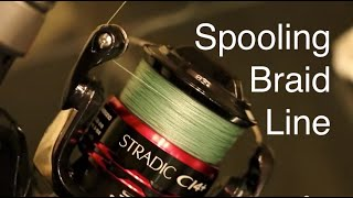 Download How to Spool Braided Line on a Spinning Reel Without Line Twists or Loops Video