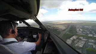 Download Cockpit View - Extreme crosswind landing at Paris Video