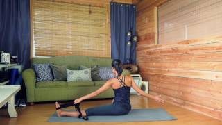 Download Yoga EVO Stretching Strap with loops Posture Improvement Video