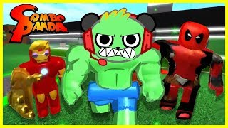 Download ROBLOX Superhero Tycoon COMBO SMASH Let's Play with Combo Panda Video