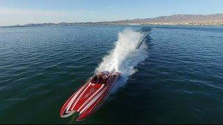 Download Insane 2700HP 40' Skater Running at Full Speed in Lake Havasu Video