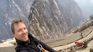 Download Huashan Plank Walk, full experience in HD, with snow! Video
