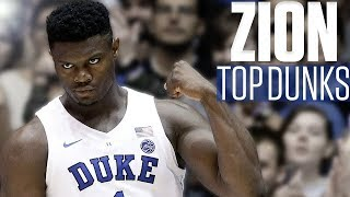 Download Zion Williamson's top 10 dunks | College Basketball Highlights Video