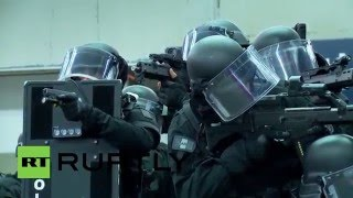 Download France: Huge anti-terror exercise held at Paris train station Video