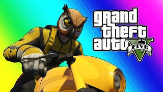 Download GTA 5 Online Funny Moments - Owl and Raccoon House Tour! (Funny Glitches) Video