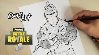 Download COMO DIBUJAR AL CABALLERO OSCURO | FORTNITE | how to draw black knight Video