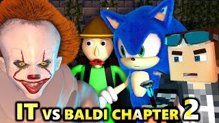 Download PENNYWISE IT vs BALDI'S BASICS 2! Ft. SONIC CHALLENGE! Chapter Minecraft Animation Horror Video