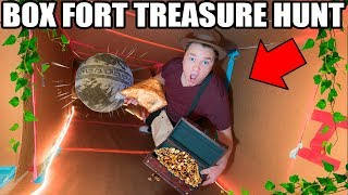 Download BOX FORT TREASURE HUNT! 📦💰Indiana Jones Temple, Traps, Puzzles & More! Video