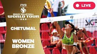 Download Chetumal 3-Star - 2018 FIVB Beach Volleyball World Tour - Women Bronze Medal Match Video