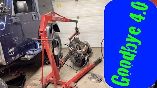 Download Pulling the Jeep 4.0 to Make Room for the LS Engine Video