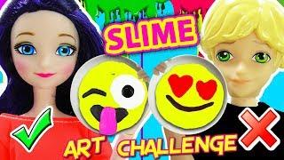 Download Slime Art Challenge de Emojis con Marinette y Adrien Video