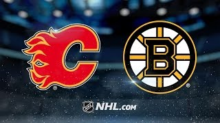 Download Rask, Bergeron lead Bruins to victory over Flames Video