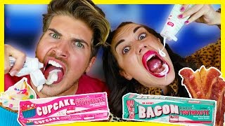 Download TRYING WEIRD TOOTHPASTE FLAVORS W/ MIRANDASINGS! Video
