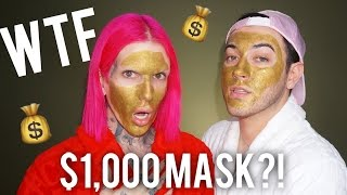 Download $1,000 MAGNETIC GOLD FACE MASK! REVIEW + DEMO feat. JEFFREE STAR Video