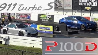 Download TESLA P100D vs Modded Porsche 997.2 911 Turbo S - Which is Quicker/Faster ?? - StreetCarDrags Video