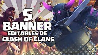Download 5 BANNER EDITABLES DE CLASH OF CLANS! - PHOTOSHOP Video