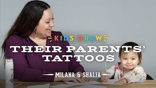 Download Milana Draws a Tattoo for Her Mom | Kids Draw | Cut Video
