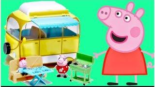 Download PEPPA PIG Camper & Van with Daddy, Mummy & George Video