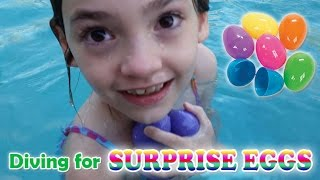 Download Diving for Surprise Eggs Girl Swimming Playing Underwater Video