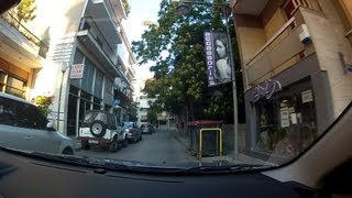 Download Driving in downtown Tripoli, Arcadia, Greece (city driving) - onboard camera Video