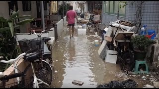 Download Super Typhoon Mangkhut Slams Cheung Chau southwest Hong Kong Video