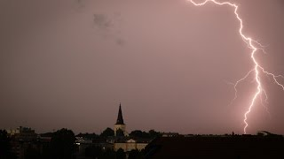 Download Thunderstorm over Karlstad Video