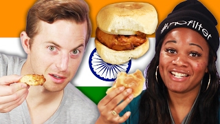 Download People Try Indian Street Food Video