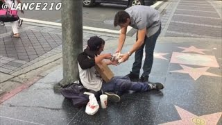 Download Watch The Heartwarming Reactions As Teen Gives 100 Hamburgers to Homeless Video