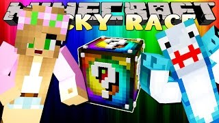 Download Minecraft Little Kelly : RAINBOW LUCKY BLOCK RACE W/ Sharky Adventures! Video