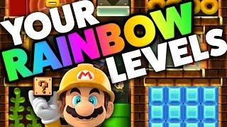 Download Super Mario Maker - RAINBOW LEVELS! - Creation Challenge [#12] Video