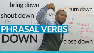 Download ″DOWN″ Phrasal Verbs in English: close down, bring down, break down... Video