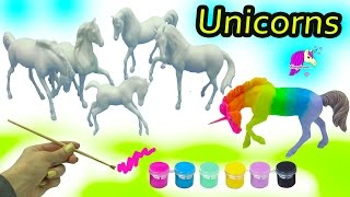 Download DIY Colorful + Rainbow Unicorn Horses - Breyer Stablemates My Dream Horse Fantasy Painting Kit Video