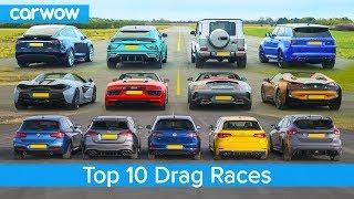 Download Best Drag Races Ever - Lamborghini v Tesla vs AMG v BMW M v Audi RS v McLaren and more! Video