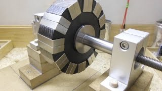 Download 24 Magnets 12 Pole Rotor - Two configurations, One Negative and One Positive... Video