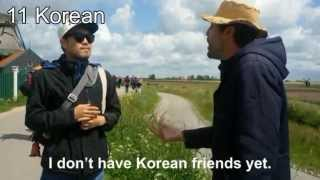 Download Dutch polyglot speaks 18 languages with tourists Video