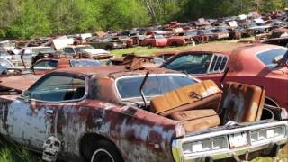 Download Old abandoned drag and rare cars in junkyard. Abandoned Muscle Cars In America 2017 Video