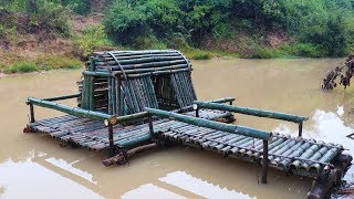 Download Build Bamboo house Around Water Video