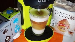 Download cafe Latte con cafetera bosch Tassimo Video