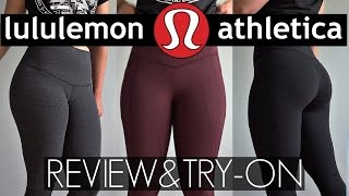 Download Legging Review & Try-On Lululemon | Wunder Under, Hight Time, All The Right Places Leggings Video