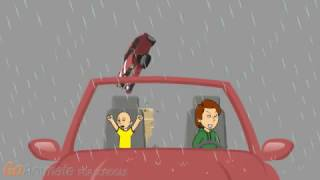 Download Caillou survives a tornado inside of a car Video