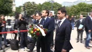 Download Macron commemorates Armenian genocide Video
