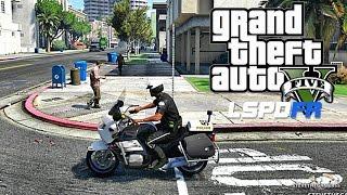 Download GTA 5 LSPDFR 0.3.1 - EPiSODE 56 - LET'S BE COPS - BIKE PATROL (GTA 5 PC POLICE MODS) Video