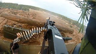 Download Swedish Army Helmet Cam of MG3 Machine Gunner - Heavy Intense Fire Video