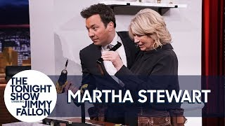 Download Martha Stewart and Jimmy Build a Shelf in 60 Seconds in a Double Tool Belt Challenge Video
