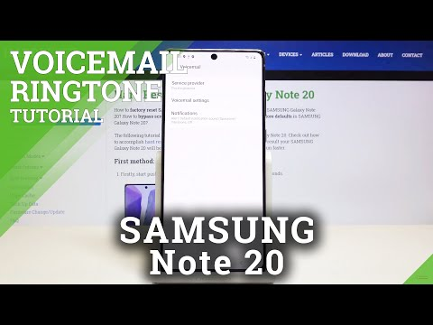 How to Customize Voicemail Notification in SAMSUNG Galaxy Note 20 -Voicemail Settings