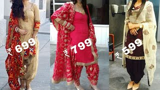 Download Buy party with Punjabi salwar suit with heavy embroidered dupatta with price/Patiala salwar suits Video