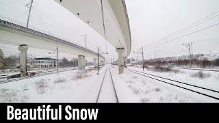 Download 4K Cab Ride NL Amsterdam CS – Enkhuizen (Winter Snow Ride) / IC 4526 / 12-02-2017 Video