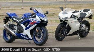 Download 2008 Ducati 848 vs Suzuki GSX-R750 - MotoUSA Video